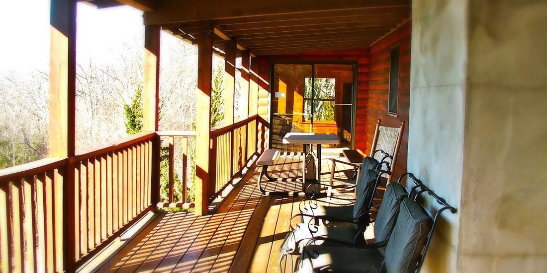 Avondale Cabin Rental deck Asheville Mountain Cabin