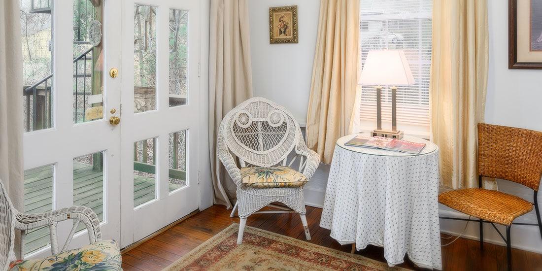 Blue Ridge Room sitting area